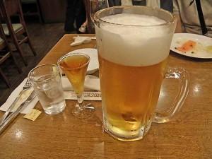 電気ブランと生ビール