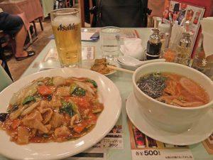 中華丼とミニラーメン。